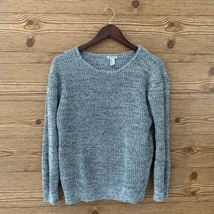 Sweaters - 3/$40 COTTON SWEATER BLACK AND GREY F21 NEUTRAL
